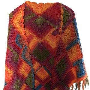 Multicolor Vibrant Knit Os Scarf/Wrap